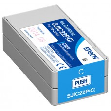 Epson ColorWorks C3500 Ink - Cyan Ink Cartridge for Colorworks C3500 Inkjet label printer