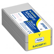 Epson ColorWorks C3500 Ink - Yellow Ink Cartridge for Colorworks C3500 Inkjet label printer - SJIC22P (Y)