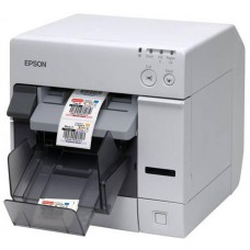 Epson TM-C3500 Color Label Printer, Nice Label, Multicoloured, USB, Ethernet, cutter, display, incl.: power supply unit, ink cartridge, order separately: interface cable, power cable, colour: white.