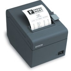Epson TM-T20 - Thermal Receipt Printer, USB Interface. Includes USB cable and power supply. Color: Dark gray