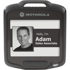 Motorola SB1 - Smart Badge, E Ink Display, 802.11b/g/n Wi-Fi, Omnidirectional 1D/2D Scanning, Push-to-Talk. Single unit.