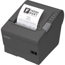 Epson TM-T88V - Thermal Receipt Printer, USB and Ethernet Interfaces, Auto-cutter, Buzzer. Includes power supply.  Color: Dark gray.