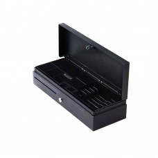 FLIP TOP CASH DRAWER 6B8C TRAY, RJ11 BLACK 24V 1A W/MICROSWITCH W/O LOCKALABLE