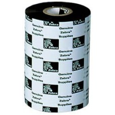 Zebra 3200 Wax-Resin -102MM X 450M Black Wax-Resin Ribbon. Compatible with Industrial Printers. Used with polypropylene labels.