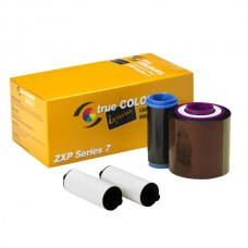 Zebra ZXP Series 7 - Ribbon IX Series Black Monochrome Ribbon 2500 Images/roll. The ribbon is used to print in a one color: black