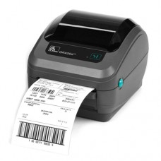 Zebra GK420d - Direct thermal printing, 203 dpi, 4 Print width, Serial, Parallel, and USB Interfaces, Dispenser, and EU/UK Power cord. Cables sold separately.