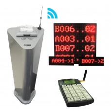 Embedded Queue System PQB42, wireless Simple 2 Button Queue System,1-2 Service,1-10 Counters Support( Main Display, Counter LED 2 unit and 2 Keypad