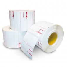 Pegasus Eco Standard 1101D semi-Permanent Adhesive/45gsm,Uncoated DT, 58mmX38mm,1.5core,1000 Labels,Roll,Straight Format,1 color