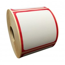 Eco Classic 2105T Mid Gloss/55gsm,Coated TT, 102mmX105mm,1.5core,500 Labels,Roll,Straight format,Red