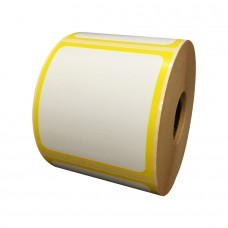 Eco Classic 2105T Mid Gloss/55gsm,Coated TT, 102mmX105mm,1.5core,500 Labels,Roll,Straight format,Yellow