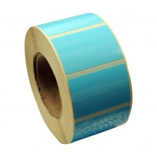 Eco Classic 2105T Mid Gloss/55gsm,Coated TT, 38mmX25mm,1.5 core,1000 Labels,Roll,Straight format,Blue