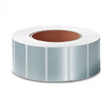 "Polysuper 6128T Check Void,Matt Synthetic, 38mmX25mm,1.5""core,1500 Labels,Roll,Straight format,Silver"