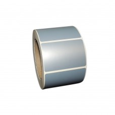 "Polysuper 6126T PET Matt,Polyester, 75mmX50mm,1.5""core,1000 Labels,Roll,Straight format,Silver"