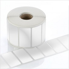 "Polysuper 6127T Text Void,Matt Synthetic,30mmx20mm,1.5""Core,1250 Labels,Roll,Straight Format,Silver"