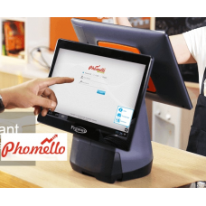 Phomello LitePOS with Pegasus PHA-POS25 Android, 14 inch Capacitive Screen, 2GB RAM, 16GB Flash,  Quad core processor,  with 7 inch back LCD, 80 mm inbuilt Thermal printer