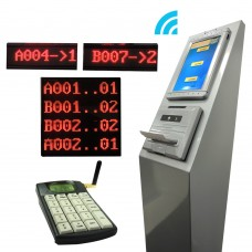 Wireless Queue System PQB41,Main Display, 2 Counter Display, 2 Keypad